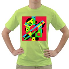Colorful geometrical abstraction Green T-Shirt