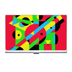 Colorful geometrical abstraction Business Card Holders