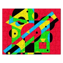 Colorful geometrical abstraction Rectangular Jigsaw Puzzl