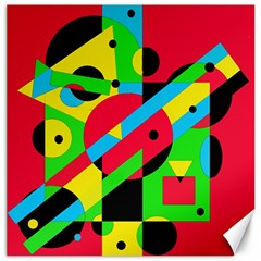 Colorful geometrical abstraction Canvas 12  x 12