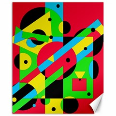Colorful geometrical abstraction Canvas 16  x 20