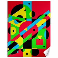 Colorful geometrical abstraction Canvas 18  x 24