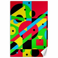 Colorful geometrical abstraction Canvas 24  x 36
