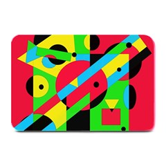 Colorful geometrical abstraction Plate Mats