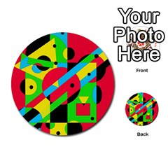 Colorful geometrical abstraction Multi-purpose Cards (Round)