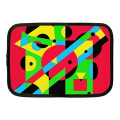 Colorful geometrical abstraction Netbook Case (Medium)