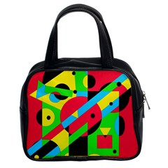 Colorful geometrical abstraction Classic Handbags (2 Sides)