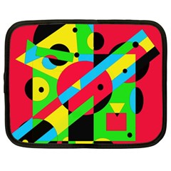 Colorful geometrical abstraction Netbook Case (XXL)