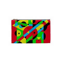 Colorful geometrical abstraction Cosmetic Bag (Small)