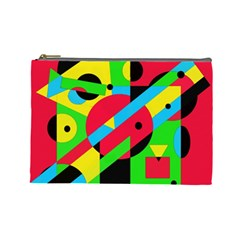 Colorful geometrical abstraction Cosmetic Bag (Large)