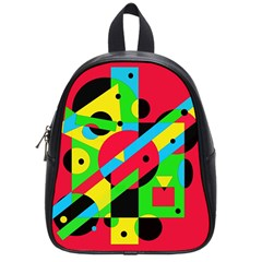 Colorful geometrical abstraction School Bags (Small)