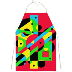 Colorful geometrical abstraction Full Print Aprons