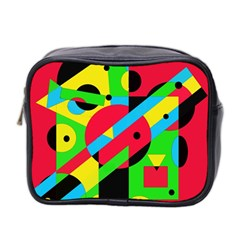 Colorful geometrical abstraction Mini Toiletries Bag 2-Side