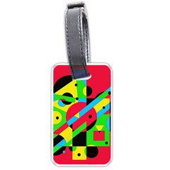 Colorful geometrical abstraction Luggage Tags (One Side)