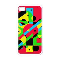 Colorful geometrical abstraction Apple iPhone 4 Case (White)