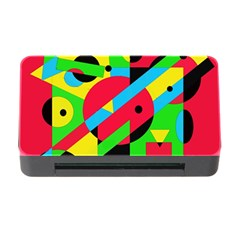 Colorful geometrical abstraction Memory Card Reader with CF