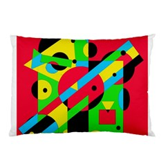 Colorful geometrical abstraction Pillow Case (Two Sides)