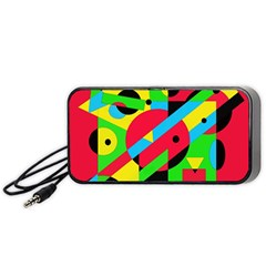 Colorful geometrical abstraction Portable Speaker (Black)