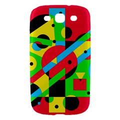 Colorful geometrical abstraction Samsung Galaxy S III Hardshell Case