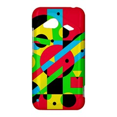 Colorful geometrical abstraction HTC Droid Incredible 4G LTE Hardshell Case