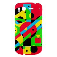 Colorful geometrical abstraction HTC Desire S Hardshell Case