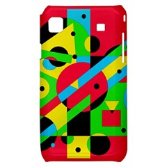 Colorful geometrical abstraction Samsung Galaxy S i9000 Hardshell Case