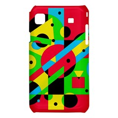 Colorful geometrical abstraction Samsung Galaxy S i9008 Hardshell Case