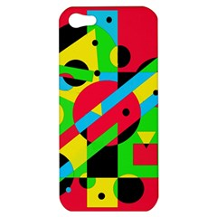Colorful geometrical abstraction Apple iPhone 5 Hardshell Case