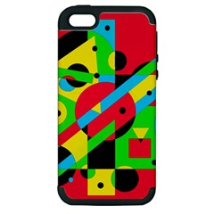 Colorful geometrical abstraction Apple iPhone 5 Hardshell Case (PC+Silicone)