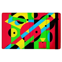 Colorful geometrical abstraction Apple iPad 3/4 Flip Case