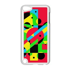 Colorful geometrical abstraction Apple iPod Touch 5 Case (White)