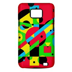 Colorful geometrical abstraction Samsung Galaxy S II i9100 Hardshell Case (PC+Silicone)