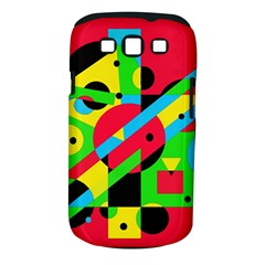 Colorful geometrical abstraction Samsung Galaxy S III Classic Hardshell Case (PC+Silicone)