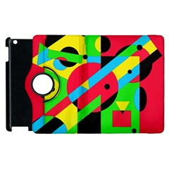 Colorful geometrical abstraction Apple iPad 2 Flip 360 Case