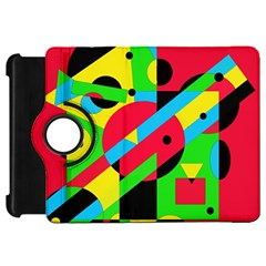 Colorful geometrical abstraction Kindle Fire HD Flip 360 Case