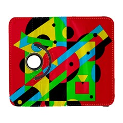 Colorful geometrical abstraction Samsung Galaxy S  III Flip 360 Case