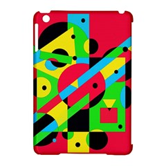 Colorful geometrical abstraction Apple iPad Mini Hardshell Case (Compatible with Smart Cover)