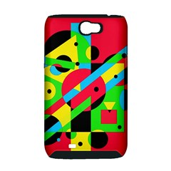 Colorful geometrical abstraction Samsung Galaxy Note 2 Hardshell Case (PC+Silicone)