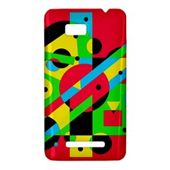 Colorful geometrical abstraction HTC One SU T528W Hardshell Case