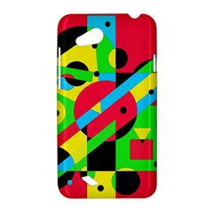 Colorful geometrical abstraction HTC Desire VC (T328D) Hardshell Case