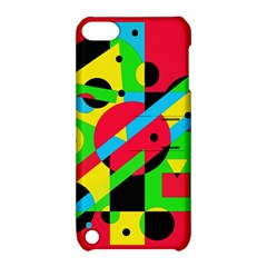 Colorful geometrical abstraction Apple iPod Touch 5 Hardshell Case with Stand