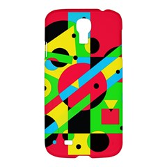 Colorful geometrical abstraction Samsung Galaxy S4 I9500/I9505 Hardshell Case