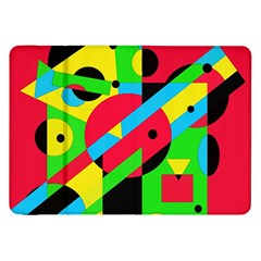 Colorful geometrical abstraction Samsung Galaxy Tab 8.9  P7300 Flip Case