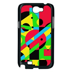 Colorful geometrical abstraction Samsung Galaxy Note 2 Case (Black)