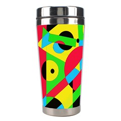 Colorful geometrical abstraction Stainless Steel Travel Tumblers