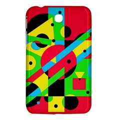 Colorful geometrical abstraction Samsung Galaxy Tab 3 (7 ) P3200 Hardshell Case