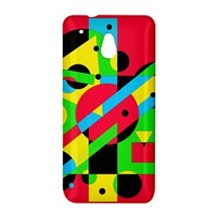 Colorful geometrical abstraction HTC One Mini (601e) M4 Hardshell Case