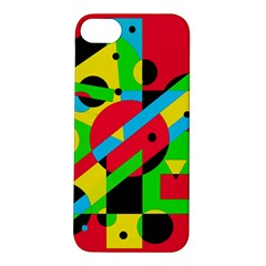 Colorful geometrical abstraction Apple iPhone 5S/ SE Hardshell Case
