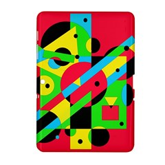 Colorful geometrical abstraction Samsung Galaxy Tab 2 (10.1 ) P5100 Hardshell Case