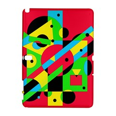 Colorful geometrical abstraction Samsung Galaxy Note 10.1 (P600) Hardshell Case
